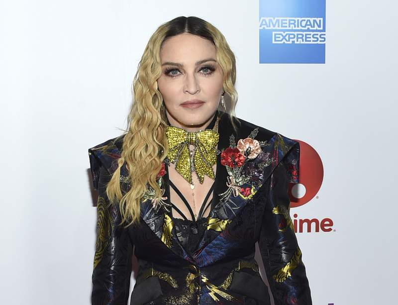 FILE - Madonna appears at the 11th annual Billboard Women in Music honors in New York on Dec. 9, 2016. Streaming service Paramount+ has landed a documentary that offers a glimpse into the personal life of Madonna and her work on the road.The streaming arm of ViacomCBS said Thursday that Madame X will make its debut in the U.S., Latin America, Australia, Nordic countries and Canada beginning Oct. 8. (Photo by Evan Agostini/Invision/AP, File)