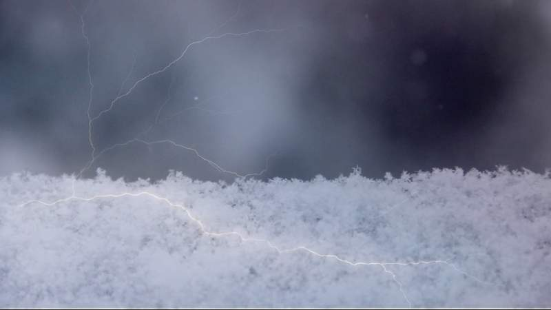 Does Thursday's lightning mean snow on the way?