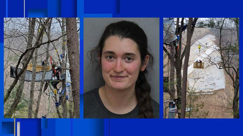 One of two tree-sitters arrested in Montgomery County