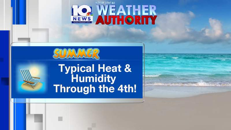 Typical heat and humidity through the 4th of July