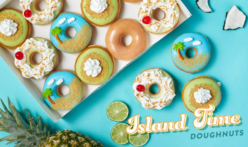 Krispy Kreme introduces Island Time doughnuts