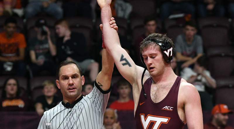 Hokies wrestler Cody Hughes reflects on career season