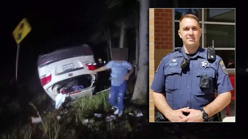 WATCH: Virginia deputy single-handedly lifts car to free pinned mother