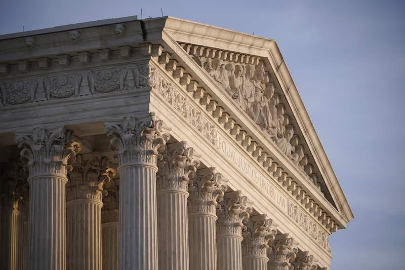 FILE - In this Nov. 5, 2020, file photo the Supreme Court is seen in Washington. (AP Photo/J. Scott Applewhite, File)