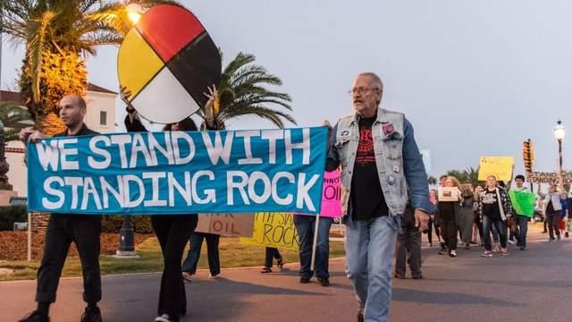 Dakota Access Pipeline protests in St. Augustine, Fla.