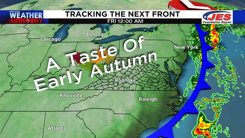 Tracking the next cold front