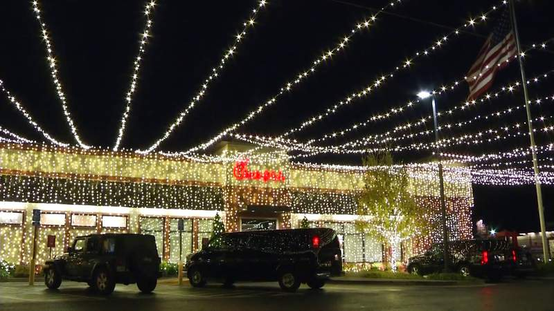 This Chick-fil-A is merry and bright