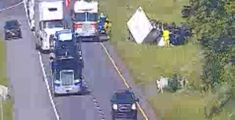 Crash causing delays on I-81 North in Montgomery County