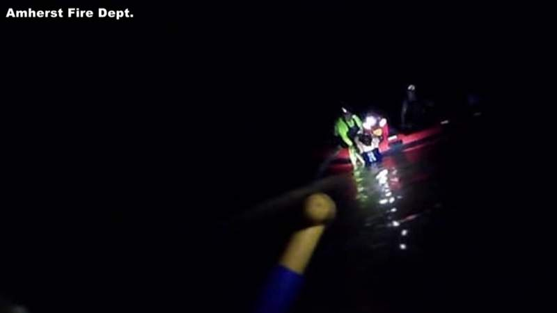 Woman recovering after swift-water rescue