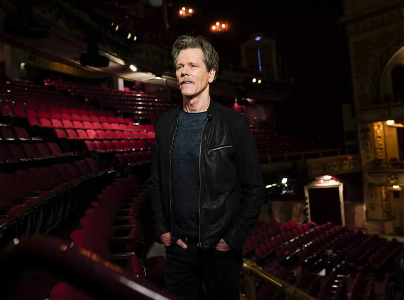 This image released by CBS shows Kevin Bacon, who will co-host and executive produce Play On: Celebrating The Power of Music to Make Change a one-hour benefit concert special to raise funds for the NAACP Legal Defense and Educational Fund, Inc. (LDF) and WhyHunger. The special will be broadcast on Tuesday, Dec. 15 on CBS. (Michele Crowe/CBS via AP)