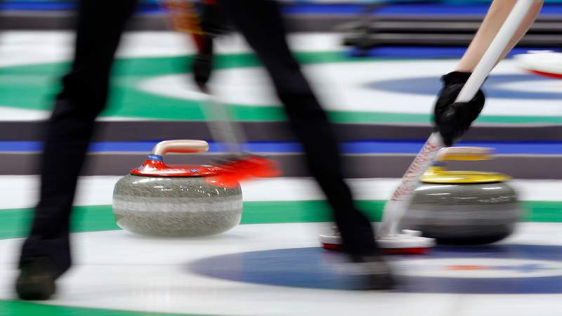 Feb 26, 2010; Vancouver, BC, CANADA; China verses Switzerland during the womens curling bronze medal match held at Vancouver Olympic Centre during the 2010 Vancouver Winter Olympics.