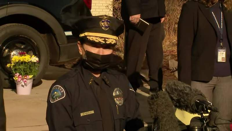 The police chief of the Boulder Police Chief gives an update on a shooting that left 10 dead.