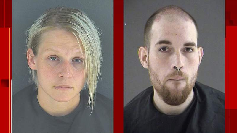 Amanda Harbin and Jared Angus. Angus' mugshot is from an arrest in 2015