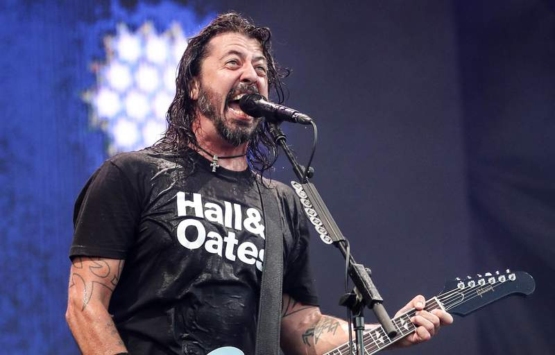 "FILE - Dave Grohl of Foo Fighters performs at Pilgrimage Music and Cultural Festival on Sept. 22, 2019, in Franklin, Tenn. The Rocker and filmmaker thought he was making a nostalgic documentary about the formative days of famous musicians, but then the pandemic happened. His new film ""What Drives Us"" became a surprisingly emotional statement about the power of live music and its absence. (Photo by Al Wagner/Invision/AP, File)"