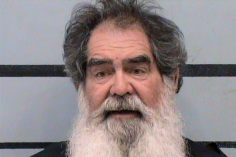 This undated photo provided by Lubbock County (Texas) Sheriff's Office shows Larry Lee Harris. Idalou, Texas police said Harris, an Arizona man who held 11 National Guard Soldiers transporting COVID-19 vaccines at gunpoint, was arrested Tuesday, March 23, 2021. (Lubbock County Sheriff's Office via AP)