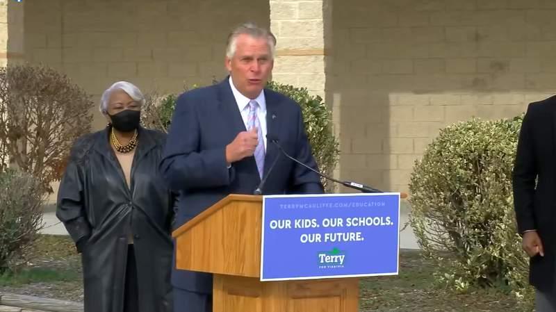 Former Virginia governor Terry McAuliffe announces his gubernatorial bid on Dec. 9, 2020