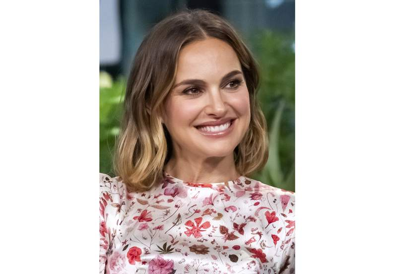 "FILE - Natalie Portman participates in the BUILD Speaker Series to discuss the film ""Lucy in the Sky""  on Oct. 2, 2019, in New York.The Oscar-winning actress has agreed to serve as honorary chair of National Library Week, the American Library Association announced Monday. National Library Week will run next April 4-10, and Portman will help promote the role libraries have played in their communities during the pandemic. (Photo by Charles Sykes/Invision/AP, File)"