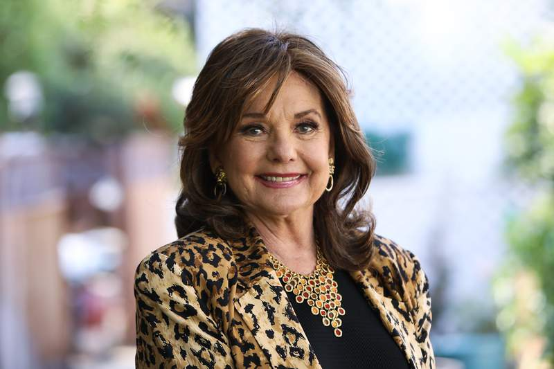 """UNIVERSAL CITY, CALIFORNIA - SEPTEMBER 30: Actress Dawn Wells visits Hallmark Channel's """"Home & Family"""" at Universal Studios Hollywood on September 30, 2019 in Universal City, California. (Photo by Paul Archuleta/Getty Images)"""