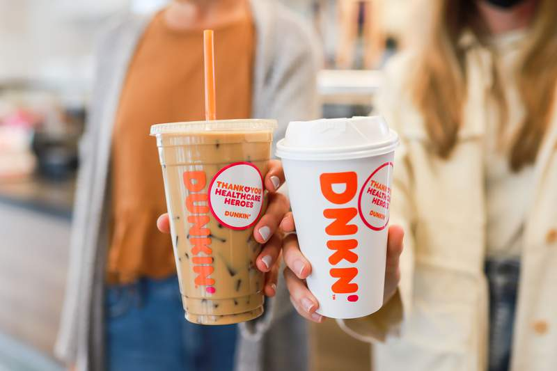 Dunkin' offering free coffee to healthcare workers Thursday for National Nurses Day
