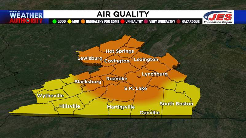 Air quality alert issued for several areas in our region.
