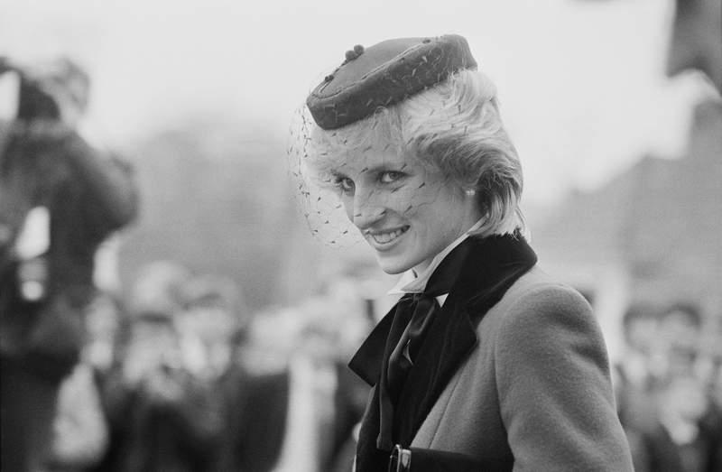Diana, Princess of Wales (1961-1997), visits Colston's School in Bristol, UK, on Nov. 19, 1983.