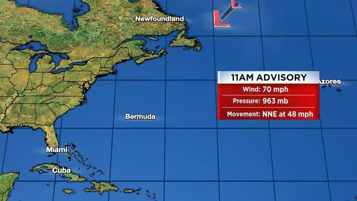 Tropics Forecast Cone at 9:37 Saturday Morning, September 11th