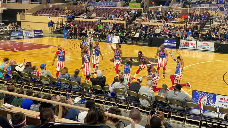 Picture from when the Harlem Globetrotters played in Roanoke, Virginia, on March 11, 2020.