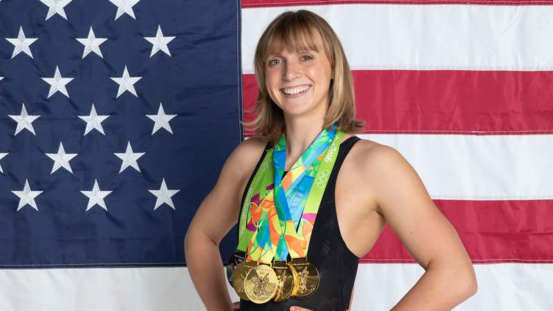 In her first two Olympic appearances, Katie Ledecky has accumulated six medals, five of which are gold.