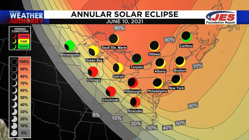Annular solar eclipse will dazzle for some on Thursday morning