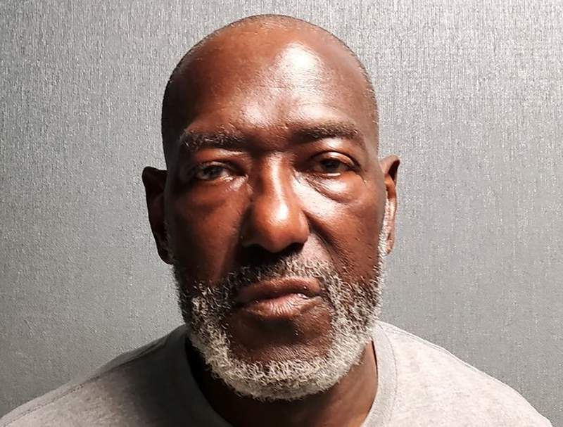 This undated photo provided by the Prince George's County Police Department in Maryland shows Roy Batson. On Saturday, Oct. 9, 2021, Maryland police announced first-degree murder charges against Batson for shooting two staff members of a senior living community to death at the facility where they worked. (Courtesy of Prince George's County Police Department via AP)
