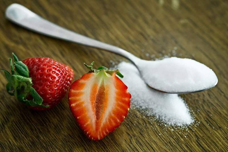 Strawberries and sugar.