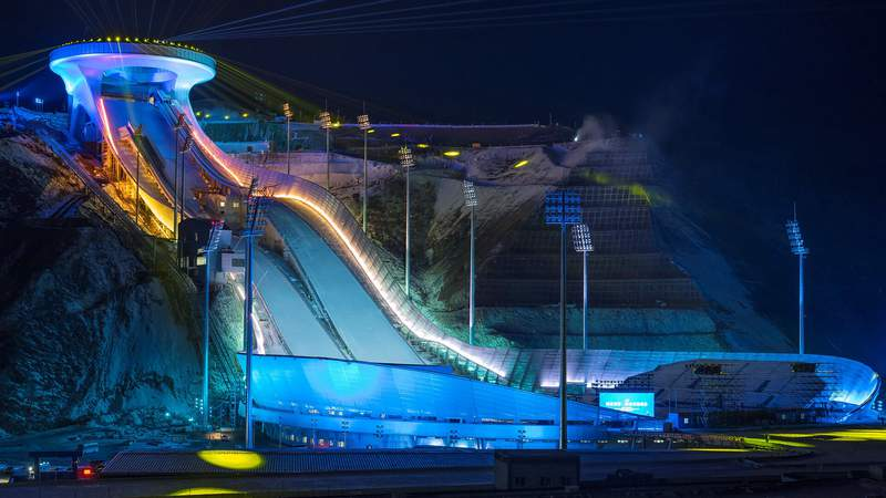 Learn about the Zhangjiakou Ski Jump Center, site of ski jumping at the 2022 Winter Olympics.