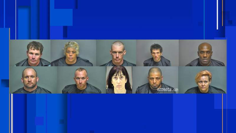 Authorities arrested 12 people for narcotic distribution, according to the Appomattox County Sheriff's Office on Oct. 19, 2020
