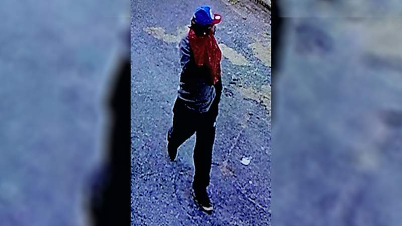 Surveillance footage showed that at 7:11 a.m. on Sept. 20, this man broke in to the business, stole multiple things and then ran away.