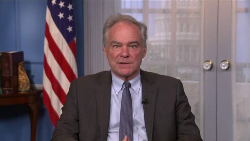 Sen. Tim Kaine supporting Pres. Biden's trip
