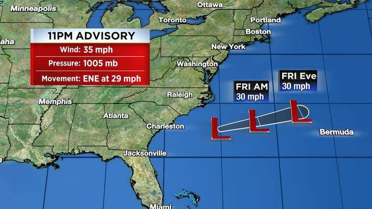 Tropics Forecast Cone at 4:05 Friday Night, September 10th