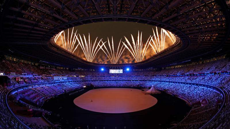 The Tokyo Olympic Games officially get underway with the Opening Ceremony at the Olympic Stadium in Tokyo.