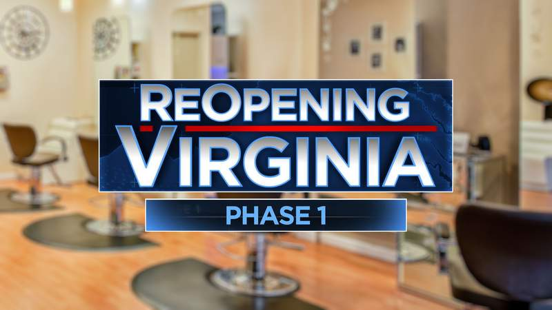 As part of Phase One of Virginia's reopening plan, personal care and personal grooming services are allowed to reopen on Friday, as long as they follow requirements mandated by the state.