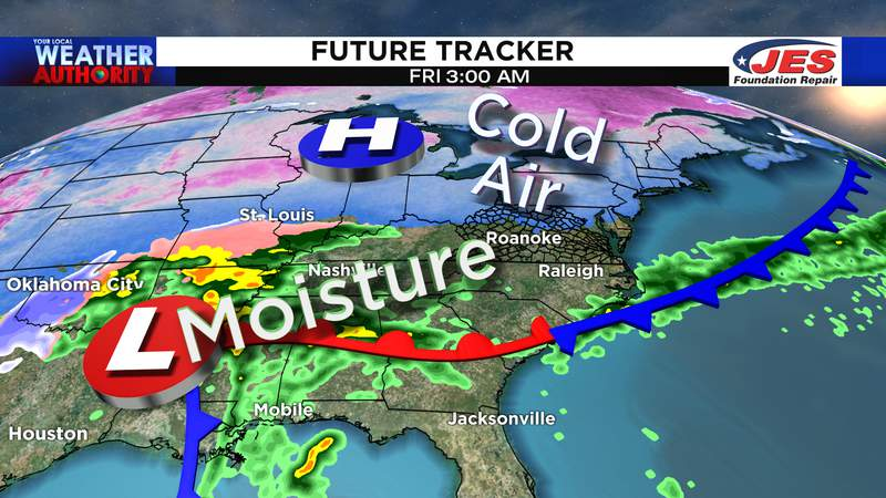 Weather pattern for New Year's Day 2021