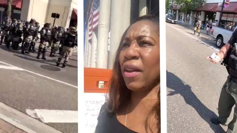 Pastor Delaine Smith was arrested and accused of unlawful assembly during a peaceful protest in downtown Jacksonville on Sunday.