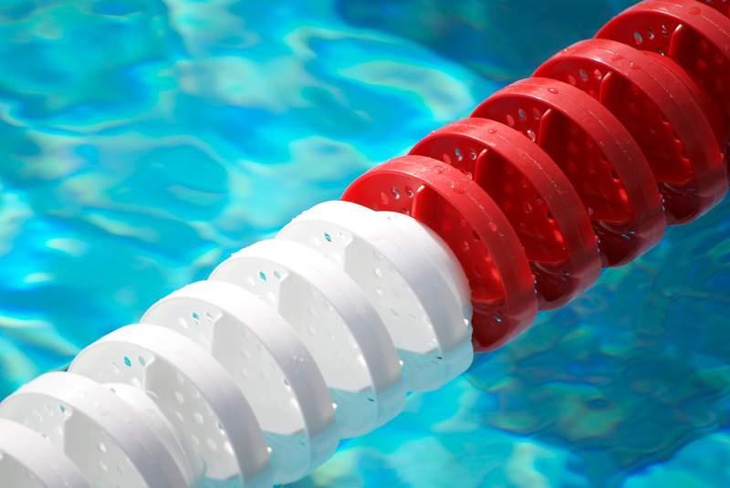Swimming pool lane line.