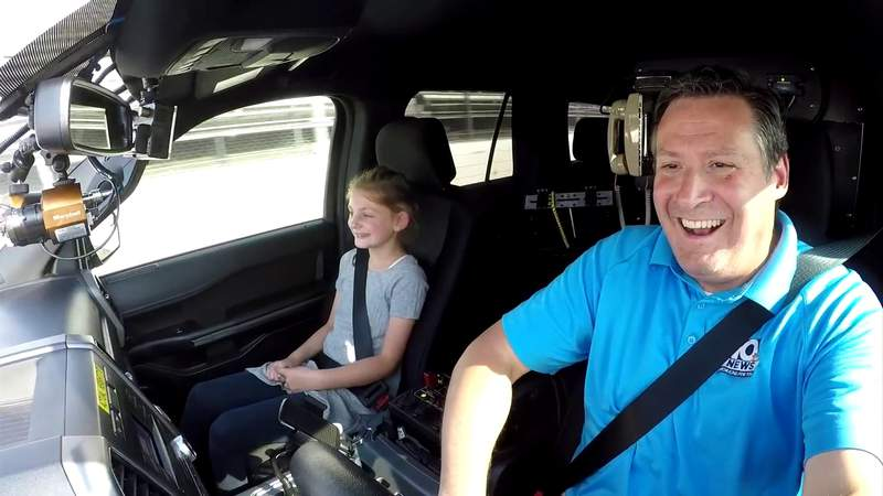 WSLS 10 Storm Chaser hits Martinsville Speedway for Track Laps for Charity