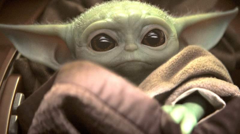 """Baby Yoda"" in Disney Plus' ""The Mandalorian."""