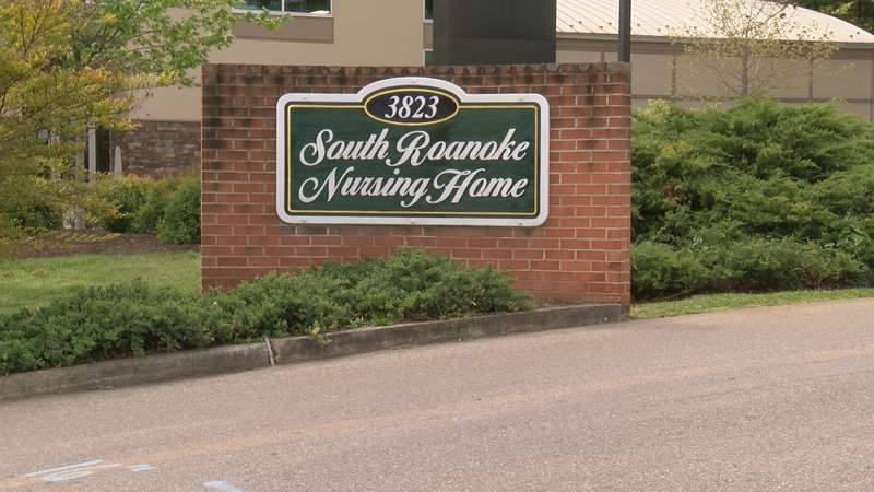 The sign at the entrance to South Roanoke Nursing Home.
