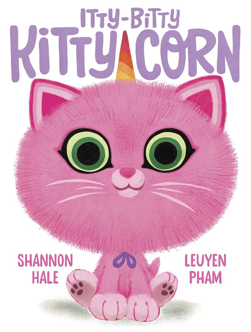 """This cover image released by Abrams Books shows Itty-Bitty Kitty-Corn,"""" by writer Shannon Hale and illustrator LeUyen Pham. The book, planned for next March, is the first of three books by the best-selling team behind the Princess in Black children's series. (Abrams Books via AP)"""