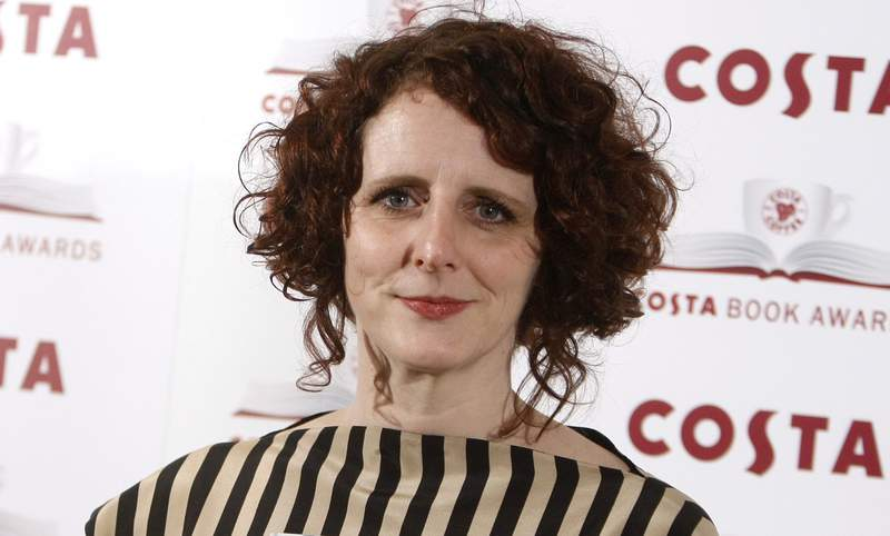 """FILE - Author Maggie O'Farrell poses for the media at the Costa book awards in London on Jan. 25, 2011. O'Farrell's """"Hamnet,"""" an imagined take on the death of Shakespeare's son from the bubonic plague, has won the National Book Critics Circle prize for fiction. (AP Photo/Alastair Grant, File)"""