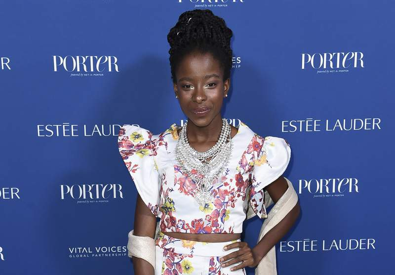 """FILE - Amanda Gorman attends Porter's 3rd Annual Incredible Women Gala on Oct. 9, 2018, in Los Angeles. Gorman, who became world famous in January after reading """"The Hill We Climb"""" at President Joe Biden's inauguration, and Penguin Random House have established the Amanda Gorman Award for Poetry, a $10,000 prize for public high school students who submit the best original work. (Photo by Richard Shotwell/Invision/AP, File)"""