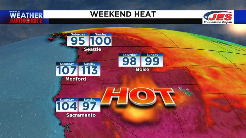 Weekend heat wave in the Pacific Northwest