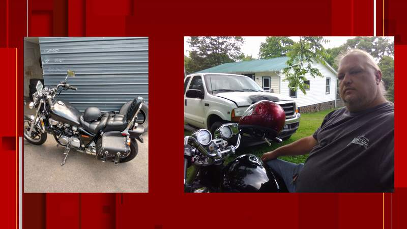 Authorities are searching for missing motorcyclist Greg Leonard who was last seen in Roanoke County