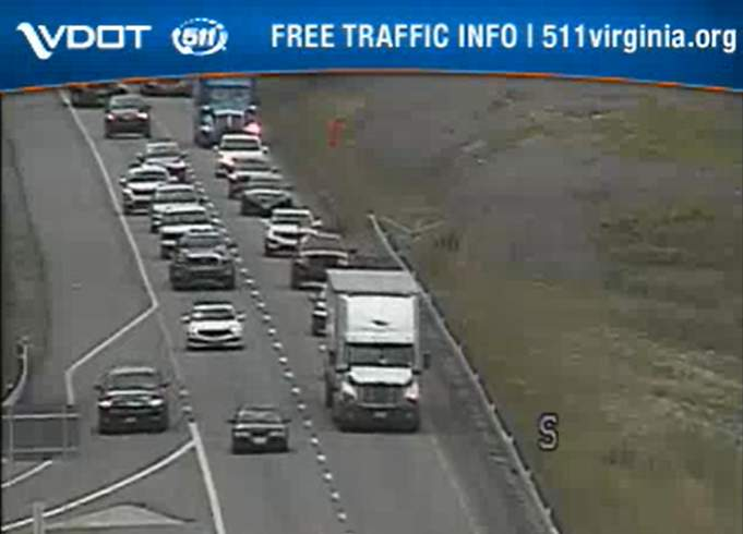 A multi-vehicle crash is causing delays on I-81 in Roanoke County near mile marker 136.7.
